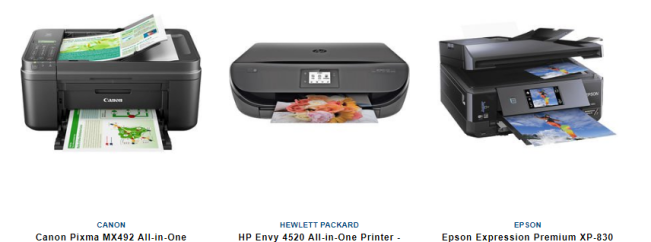 three ink jet printers